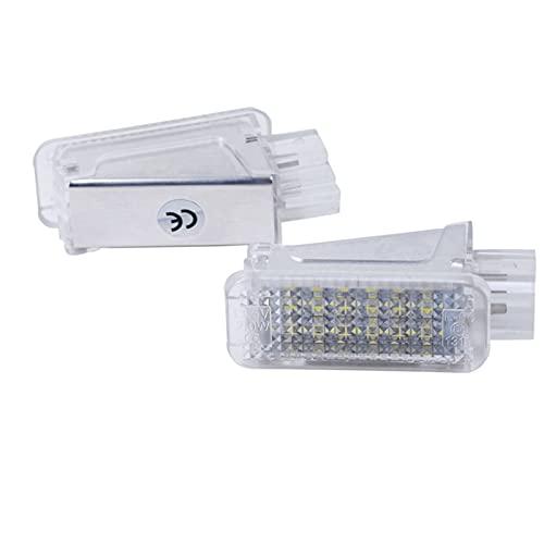 WYYUE 2 Piezas de iluminación LED para Maletero, iluminación para el Espacio para los pies, luz Debajo de la Puerta, Compatible con A2 A3 S3 A4 B5 B6 B7 B8 S4 RS4 A5 S5 A6 S6 A8 S8 Q5 Q7 TT R8