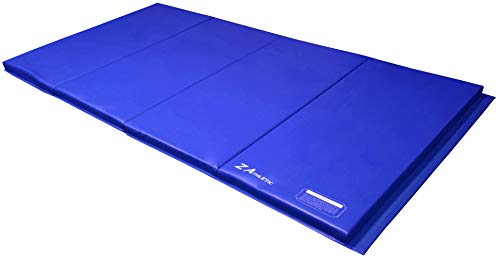 Z Athletic 4ft x 8ft x 2in Gymnastics Folding Exercise Gym Mat 4 Panel Multiple Colors, Blue