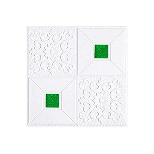 10 unids 3D Estéreo Papel tapiz Pegatinas de la pared Auto-adhesivo Paneles Decorativos Decorativos Proceso de relieve Fondo de pantalla de espuma de techo para sala de estar Decoración del hogar TELE