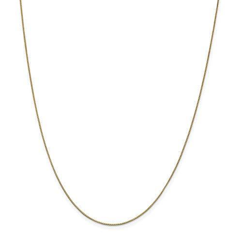 , 0,7 mm, mit Kette, 14 Karat, Karabiner JewelryWeb Halskette, 30 cm