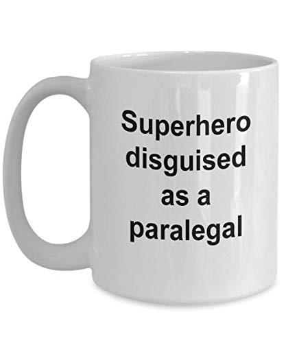 Taza de caf de asistente legal - Superhroe disfrazado de asistente legal, ideas de regalos de asistente legal, taza de caf de asistente legal, regalo de abogado