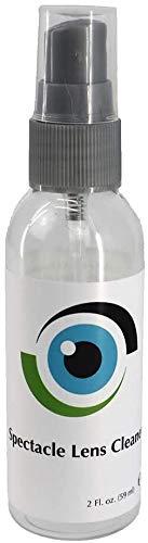 Sports World Vision - Detergente per lenti, 1 flacone da 59 ml, 1 flacone di oz, occhiali, fotocamere e altri obiettivi, senza alcool, detergente spray adatto per tutti i rivestimenti