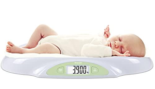 Boston Tech 8436576772775 - Boston Tech BA-105 Bascula para Bebés y Mascotas. Para recién nacidos hasta 25 kg. Pilas Incluidas.