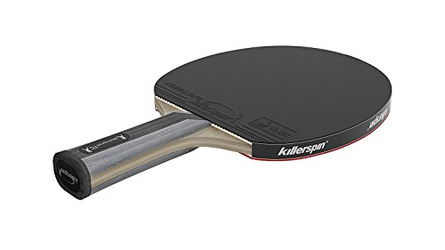 Killerspin Diamond TC RTG Ping Pong Paddle| Table Tennis Racket| Flared Handle Ping Pong Paddle| 7-Ply Wood/Titanium Carbon Blade, Fortissimo Rubbers| ITTF Approved| Memory Book Gift Storage Case