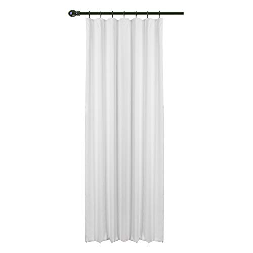 WOLTU® #489, Vorhang Gardinen Blickdicht mit kräuselband für schiene, Leichter & weicher Verdunklungsvorhang für Wohnzimmer Schlafzimmer Haustür, 135x245 cm, Weiß, (1 Stück)