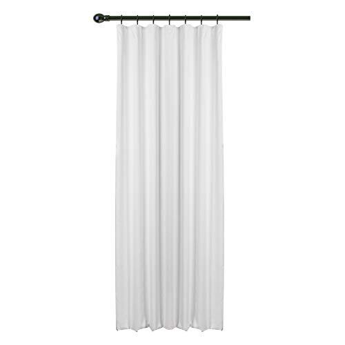 WOLTU® #489, Vorhang Gardinen Blickdicht mit kräuselband für schiene, Leichter & weicher Verdunklungsvorhang für Wohnzimmer Schlafzimmer Haustür, 135x225 cm, Weiß, (1 Stück)