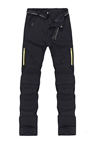 Mr.Stream Sports 2-in-1 Outdoor Quickdry viele Taschen Herren Zip Off Hose Short oder Lang 5X-Large Black