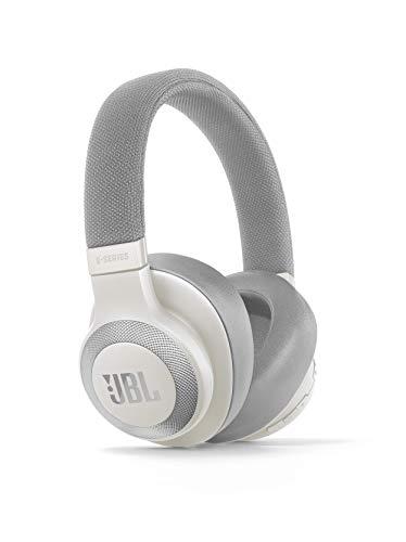 JBL E65BTNC Over Ear Bluetooth Kopfhörer - Active Noise Cancelling Headphones mit JBL Signature Sound - Musikgenuss für bis zu 24 Stunden Weiß