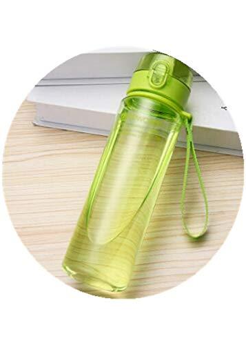 Botella de Agua 800ML 560ML 400ML Vasos de plástico para Deportes al Aire Libre Escuela Sello a Prueba de Fugas Botellas de Agua Potable Directa portátiles - 560ml, Verde Claro