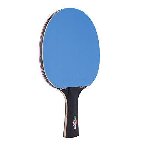 JOOLA Pala de Ping Pong Colorato,, Tiempo Libre, Atractivo diseño, Madera contrachapada Especial encolada, Azul y Rosa, Esponja de 2,0 mm