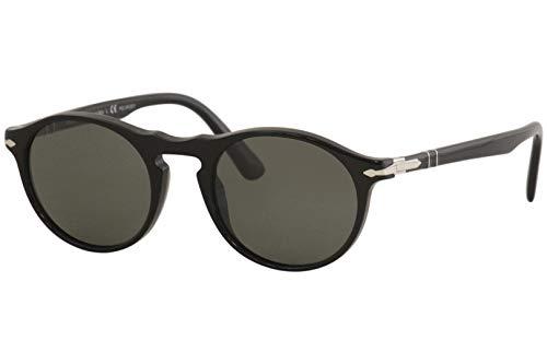 Persol 0PO3204S Gafas de sol, Ovaladas, Polarizadas, 51, Black