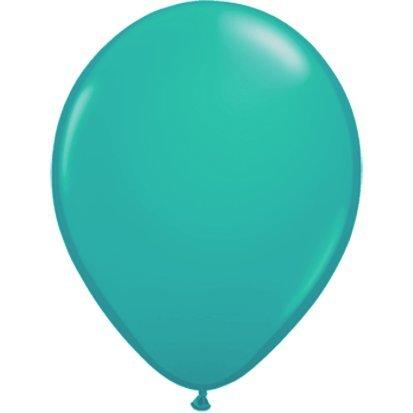partydiscount24 Riesenballons Türkis Ø 40 cm 10 Stück
