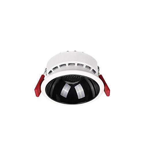HSCW Luz de techo empotrable 7W / 12W / 20W Downlights AC 110-240V Redonda de aleación de aleación de aleación Spotlights LED profundo anti deslumbramiento Downlamps Iluminación interior para sala de