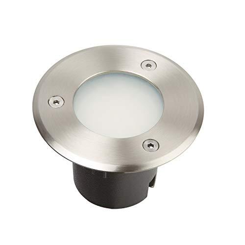 Spot led encastrable extérieur 230V blanc froid - Diam 10 cm