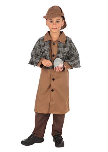 Bristol Novelty- Detective Boy (Large) Disfraz, Color marrón, 7-8 años (CF237L)