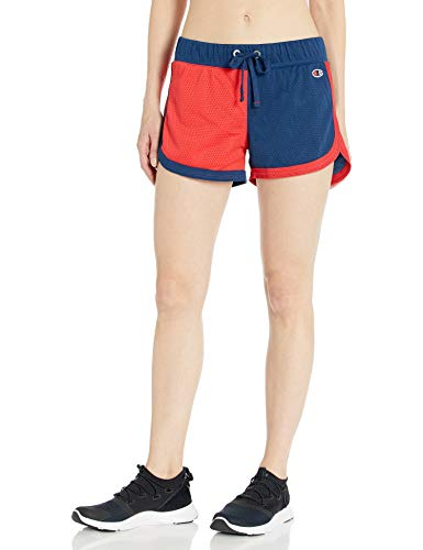 Champion Women's Mesh Short (Limited Edition), Red/Royal Blue, S