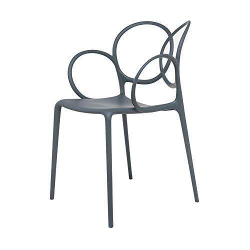 Driade Sissi - Sedia con braccioli, colore: Grigio scuro