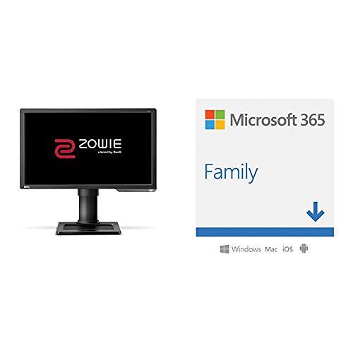 "BenQ ZOWIE XL2411P e-Sports Gaming Monitor con 1 ms, 24"", 144 Hz, Regolabile in Altez + Microsoft 365 Family   Via Email"