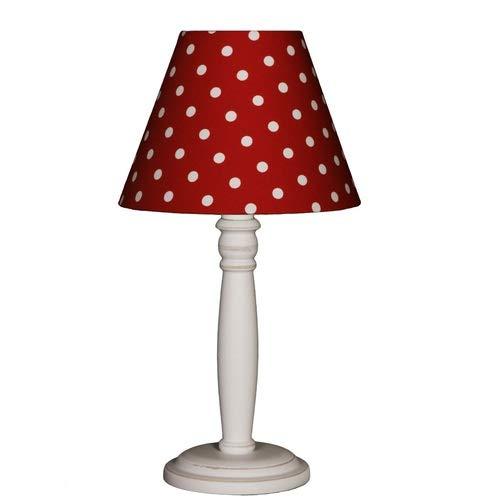 Lieblngslampen Nordika Design Nachttischlampe Punkte rot Tischleuchte Tischlampe gepunktet Dots
