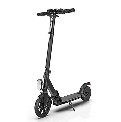 Scooter Eléctrico, Scooter Eléctrico Plegable Herramienta de Desplazamiento, Motor de 180W con Batería de 4Ah, Scooter para Adultos Plegable Ultraligero de Dos Ruedas Instrumento Inteligente,Negro