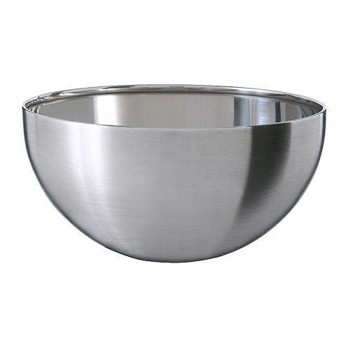 Ikea 300.814.67 Blanda Blank Serving Bowl, Stainless Steel, 5-Inch, Silver by Ikea