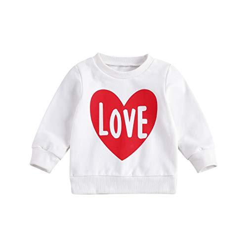 Eghunooye Sweatshirt Pullover Baby Mädchen Daddy Girls Print Langarm Sweater Top Kleinkind Kinder Baby Mädchen Herbst Kleidung Oberteil (Weiß A, 4-5Jahre)