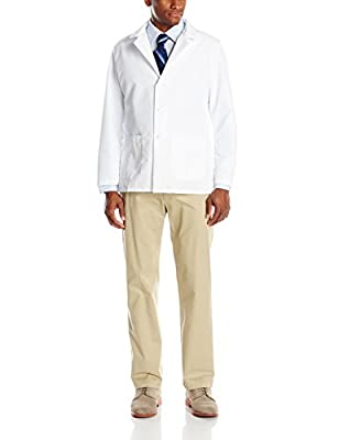 Red Kap Men's Specialized Lapel Counter Coat, White, Large from Red Kap Men's Apparel