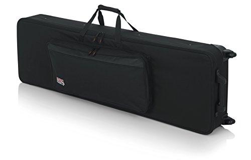 GATOR GK-88 SLIM - Funda para teclado, 137,16 x 38,1 x 15,24 cm (con ruedas), color negro, 88 teclas delgadas