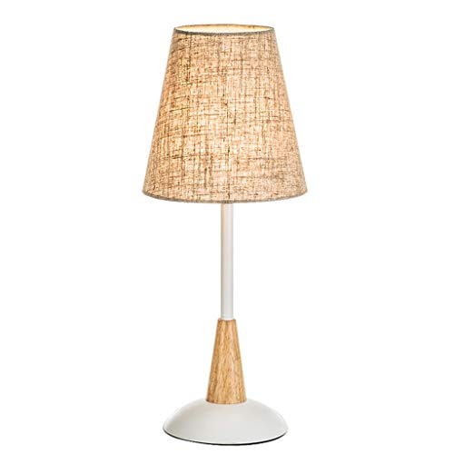 Lámpara de noche Lámpara de mesa de noche dormitorio lámpara de mesa creativa estudio simple lámpara de mesa moderna caliente caliente noche de la luz de la lámpara Tela nórdica lámpara de cabecera Lu
