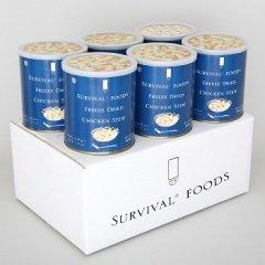 25年保存可能 【サバイバルフーズ】 大缶 チキンシチューx6缶セット(60食相当) <Seishop> (#10 (大缶))