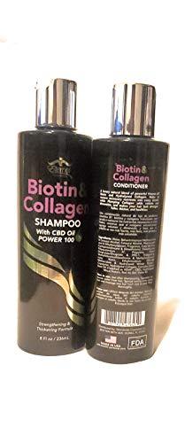 BIOTIN & COLLAGEN with CBD OIL power 100 shampoo y acondicionador