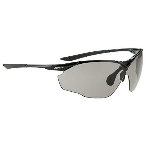 ALPINA SPLINTER SHIELD VL Sportbrille, Unisex – Erwachsene, black, one size