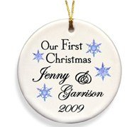 "Our First Christmas Together Ornaments"" border="