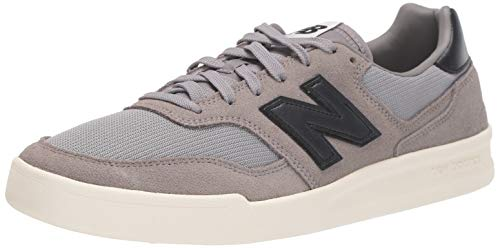 New Balance Men's 300v2 Court Shoe Sneaker, Grey/Black, 10.5 D US