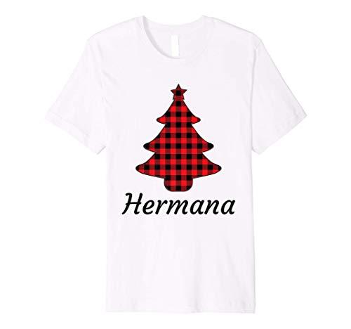 Pijamas Navideña Familiar Hermana Plaid Arbol de...