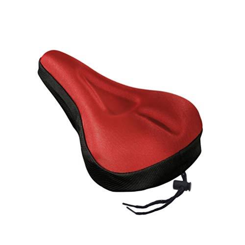 VORCOOL - Funda para asiento de bicicleta, 1 cojín de gel suave, para mujer y hombre, compatible con bicicletas de crucero y estacionarias (rojo)