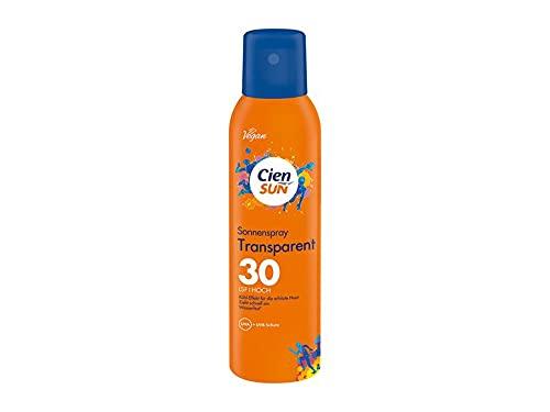 Cien Sun Sonnenschutz Sonnenspray, Transparent, LSF 30 Hoch, Vegan, 200 ml