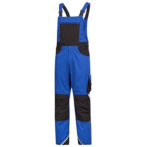 Nitras Motion Tex Plus Latzhose - Arbeitshosen lang für Herren & Damen - Arbeitskleidung Bundhose Arbeitshose Arbeitsbundhose - Blau Größe 29