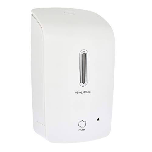 Alpine Wall Mountable, Touchless, Universal Foam Soap Dispenser for Offices, Schools, Warehouses,...