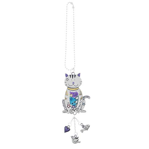 Ganz Color Car Charm, Cat with Dangles, Multi, Medium
