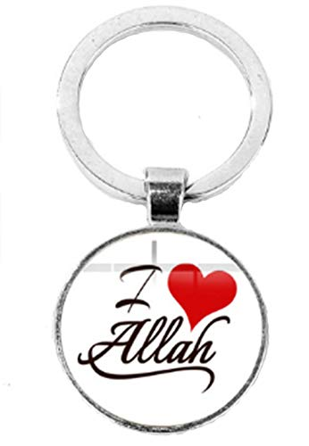 AccessCube Islamisch Muslim Allah Islam Mohammad Schlüsselanhänger Islamisch Arabisch Schlüsselanhänger, weiß