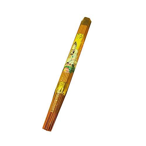 LINGS Chinesische Räucherstäbchen/Räucherstäbchen (60 Stück), Vanille-Meditations-Anbetungs-Ahnenheim-Buddhismus-Räucherstäbchen, 32 cm