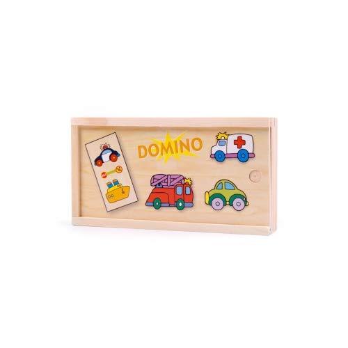 Brink Holzspielzeug Domino Verkehr Fahrzeuge Holz Holzspielzeug traditionelle Spiele Klassiker Auto