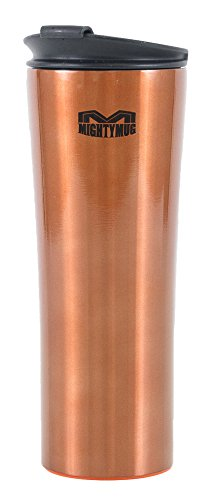 Mighty Mug Biggie Stainless Steel Tumbler, The Travel Mug That WonÕt Fall, with Double Wall Vacuum Insulation To Keep Your Drink Hot or Cold, Copper, 18 oz