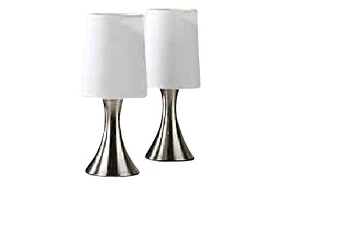 Touch Lampe 2er Set mit Silberfuss B-Ware