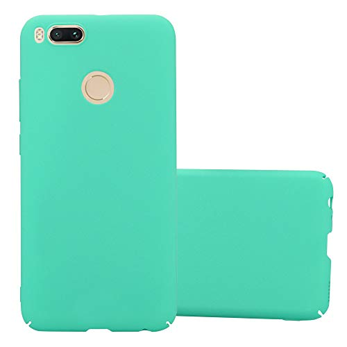 Cadorabo Funda para Xiaomi Mi A1 / 5X en Frosty Verde – Cubierta Protección de Plástico Duro Super Delgada e Inflexible con Antichoque – Case Cover Carcasa Protectora Ligera