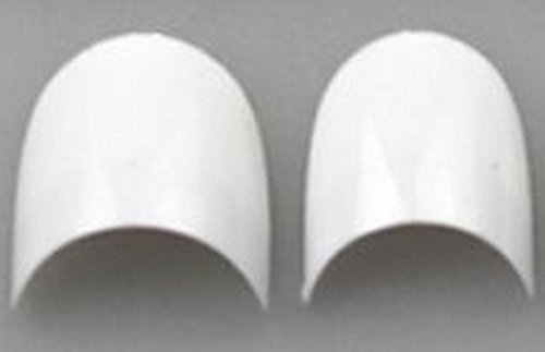 100 de French Tips Blanc ~ ~ forme ovale, courte ~ ~ dans petite tipbox