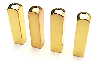 Metal Aglets Shoelace Tips - Gold