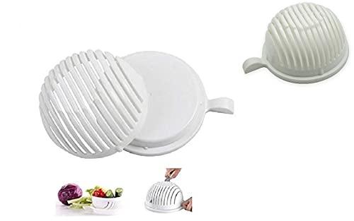 Salad Cutter Bowl, Vegetable Chopper, Chop Fresh Vegetables and Fruits in Seconds BPA, Cutter for Lettuce or Salad