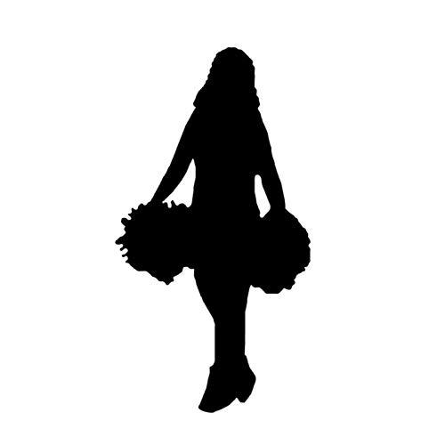 estéticas 7.6 * 14.3cm Funny Sports Gimnasia Decoración de Ballet de Ballet Modeling Pegatina Accesorios Vinilo Personalizado C12-1469 (Color Name : Black)